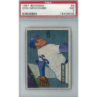 1951 Bowman Baseball #6 Don Newcombe PSA 7 (NM) *9538 (Reed Buy)