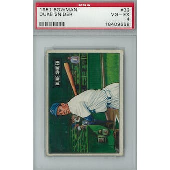 1951 Bowman Baseball #32 Duke Snider PSA 4 (VG-EX) *9558 (Reed Buy)