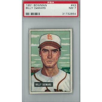 1951 Bowman Baseball #43 Billy DeMars PSA 7 (NM) *2854 (Reed Buy)
