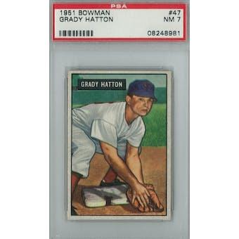 1951 Bowman Baseball #47 Grady Hatton PSA 7 (NM) *8981 (Reed Buy)
