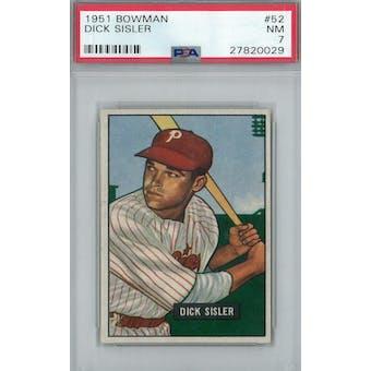 1951 Bowman Baseball #52 Dick Sisler PSA 7 (NM) *0029 (Reed Buy)