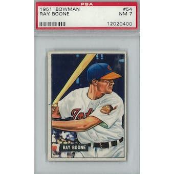 1951 Bowman Baseball #54 Ray Boone PSA 7 (NM) *0400 (Reed Buy)