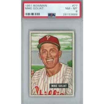 1951 Bowman Baseball #77 Mike Goliat PSA 8 (NM-MT) *3688 (Reed Buy)