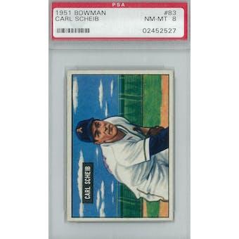 1951 Bowman Baseball #83 Carl Scheib PSA 8 (NM-MT) *2527 (Reed Buy)