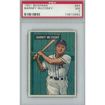 1951 Bowman Baseball #84 Barney McCosky PSA 7 (NM) *0682 (Reed Buy)