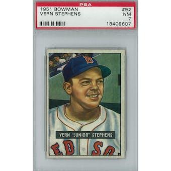 1951 Bowman Baseball #92 Vern Stephens PSA 7 (NM) *9607 (Reed Buy)