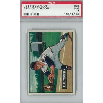 1951 Bowman Baseball #99 Earl Torgeson PSA 7 (NM) *9614 (Reed Buy)