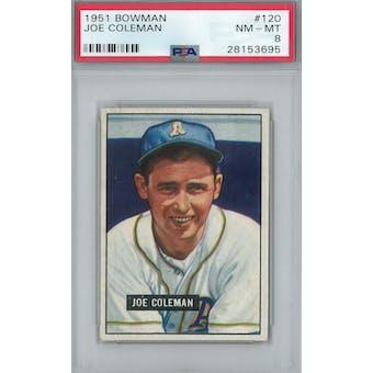 1951 Bowman Baseball #120 Joe Coleman PSA 8 (NM-MT) *3695 (Reed Buy)