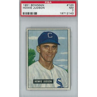 1951 Bowman Baseball #123 Howie Judson PSA 7 (NM) *2143 (Reed Buy)