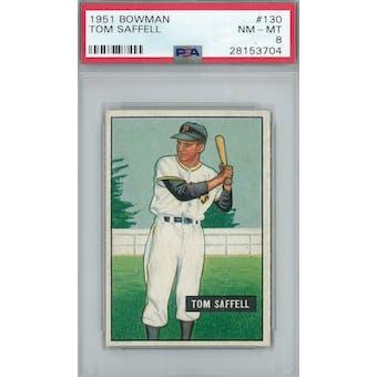 1951 Bowman Baseball #130 Tom Saffell PSA 8 (NM-MT) *3704 (Reed Buy)