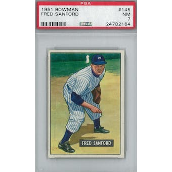 1951 Bowman Baseball #145 Fred Sanford PSA 7 (NM) *2164 (Reed Buy)