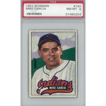1951 Bowman Baseball #150 Mike Garcia PSA 8 (NM-MT) *0254 (Reed Buy)