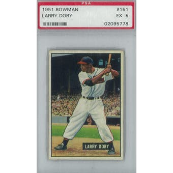 1951 Bowman Baseball #151 Larry Doby PSA 5 (EX) *5778 (Reed Buy)