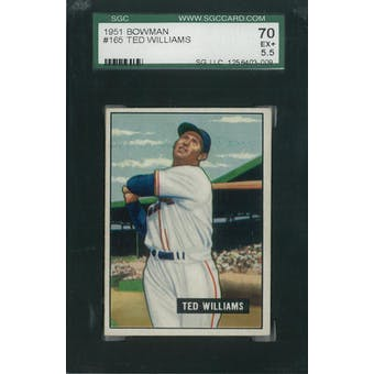 1951 Bowman Baseball #165 Ted Williams SGC 70 (EX+) *3009 (Reed Buy)
