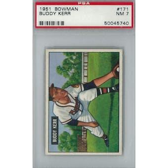 1951 Bowman Baseball #171 Buddy Kerr PSA 7 (NM) *5740 (Reed Buy)