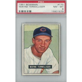 1951 Bowman Baseball #175 Wayne Terwilliger PSA 8 (NM-MT) *1679 (Reed Buy)
