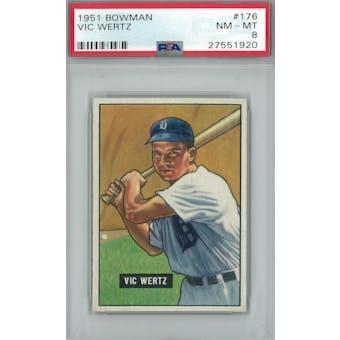 1951 Bowman Baseball #176 Vic Wertz PSA 8 (NM-MT) *1920 (Reed Buy)