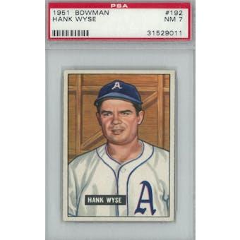 1951 Bowman Baseball #192 Hank Wyse PSA 7 (NM) *9011 (Reed Buy)