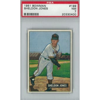 1951 Bowman Baseball #199 Sheldon Jones PSA 7 (NM) *0400 (Reed Buy)