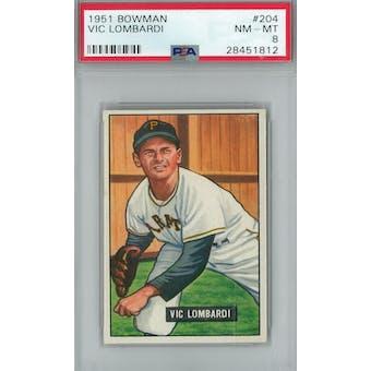 1951 Bowman Baseball #204 Vic Lombardi PSA 8 (NM-MT) *1812 (Reed Buy)