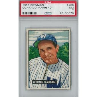 1951 Bowman Baseball #206 Conrado Marrero PSA 7 (NM) *0070 (Reed Buy)