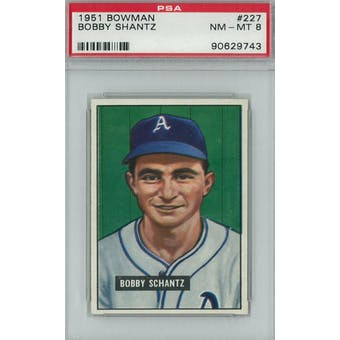 1951 Bowman Baseball #227 Bobby Shantz PSA 8 (NM-MT) *9743 (Reed Buy)