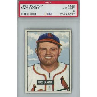 1951 Bowman Baseball #230 Max Lanier PSA 8 (NM-MT) *7037 (Reed Buy)