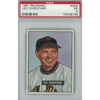 1951 Bowman Baseball #233 Leo Durocher PSA 5 (EX) *9738 (Reed Buy)