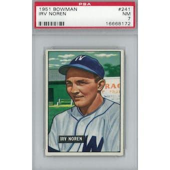 1951 Bowman Baseball #241 Irv Noren PSA 7 (NM) *8172 (Reed Buy)
