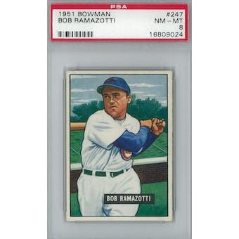 1951 Bowman Baseball #247 Bob Ramazotti PSA 8 (NM-MT) *9024 (Reed Buy)