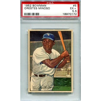 1952 Bowman Baseball #5 Minnie Minoso PSA 5.5 (EX+) *0172 (Reed Buy)
