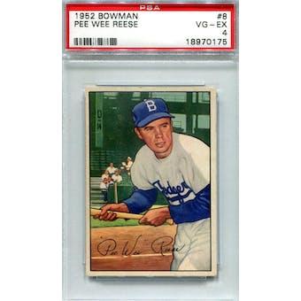 1952 Bowman Baseball #8 Pee Wee Reese PSA 4 (VG-EX) *0175 (Reed Buy)