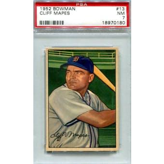1952 Bowman Baseball #13 Cliff Mapes PSA 7 (NM) *0180 (Reed Buy)
