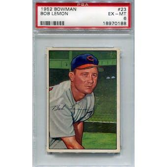 1952 Bowman Baseball #23 Bob Lemon PSA 6 (EX-MT) *0188 (Reed Buy)