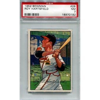 1952 Bowman Baseball #28 Roy Hartsfield PSA 7 (NM) *0192 (Reed Buy)