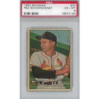 1952 Bowman Baseball #30 Red Schoendienst PSA 6 (EX-MT) *0194 (Reed Buy)