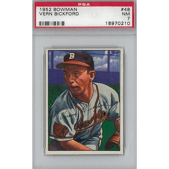 1952 Bowman Baseball #48 Vern Bickford PSA 7 (NM) *0210 (Reed Buy)
