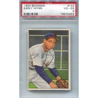 1952 Bowman Baseball #142 Early Wynn PSA 4 (VG-EX) *0293 (Reed Buy)