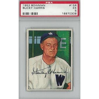 1952 Bowman Baseball #158 Bucky Harris PSA 5 (EX) *0308 (Reed Buy)