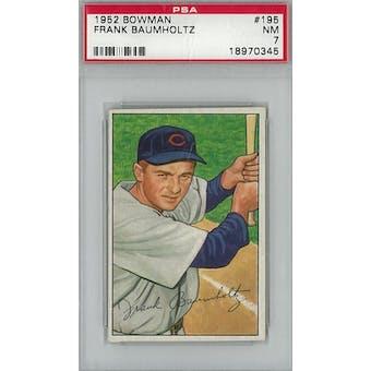 1952 Bowman Baseball #195 Frank Baumholtz PSA 7 (NM) *0345 (Reed Buy)