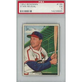 1952 Bowman Baseball #196 Stan Musial PSA 5 (EX) *9885 (Reed Buy)