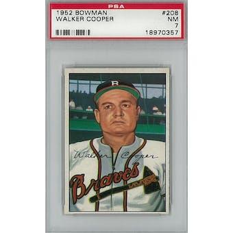 1952 Bowman Baseball #208 Walker Cooper PSA 7 (NM) *0357 (Reed Buy)