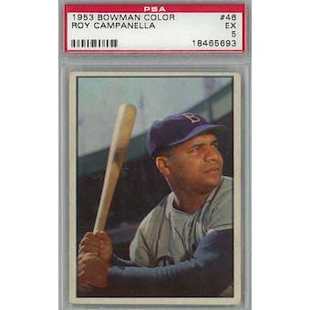1953 Bowman Color Baseball #46 Roy Campanella PSA 5 (EX) *5693 (Reed Buy)