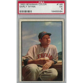 1953 Bowman Color Baseball #146 Early Wynn PSA 5 (EX) *5564 (Reed Buy)