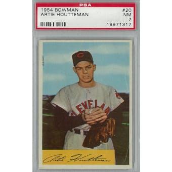 1954 Bowman Baseball #20 Artie Houtteman PSA 7 (NM) *1317 (Reed Buy)