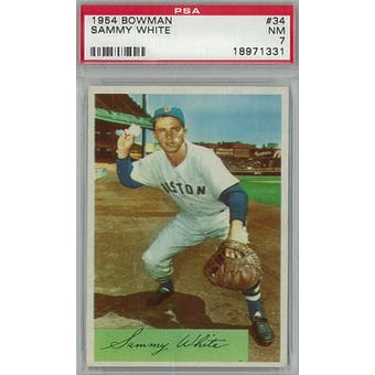 1954 Bowman Baseball #34 Sammy White PSA 7 (NM) *1331 (Reed Buy)