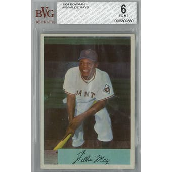 1954 Bowman Baseball #89 Willie Mays BVG 6 (EX-MT) *2880 (Reed Buy)