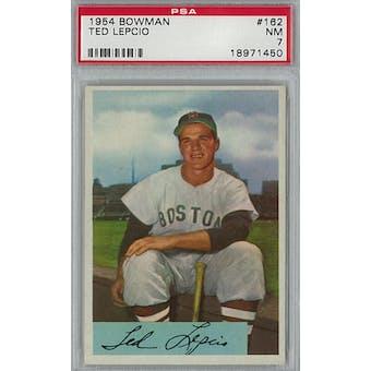 1954 Bowman Baseball #162 Ted Lepcio PSA 7 (NM) *1450 (Reed Buy)