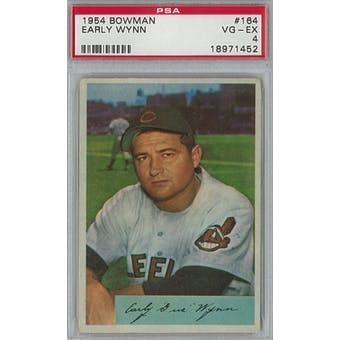 1954 Bowman Baseball #164 Early Wynn PSA 4 (VG-EX) *1452 (Reed Buy)
