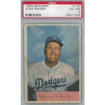 1954 Bowman Baseball #170 Duke Snider PSA 4 (VG-EX) *1458 (Reed Buy)